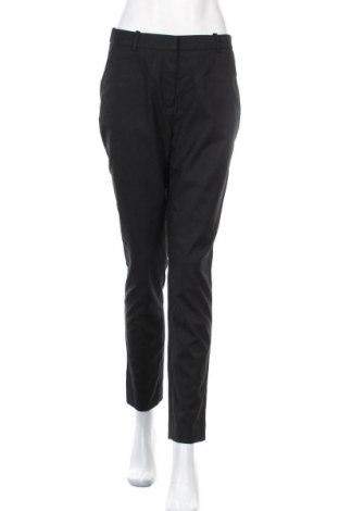 Дамски панталон H&M, Размер M, Цвят Черен, 68% полиестер, 30% вискоза, 2% еластан, Цена 13,23лв.