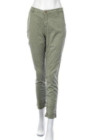 Γυναικείο παντελόνι Hallhuber, Μέγεθος M, Χρώμα Πράσινο, 60% μοντάλ, 37% βαμβάκι, 3% ελαστάνη, Τιμή 15,20€