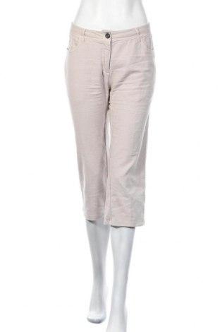Дамски панталон Hessnatur, Размер M, Цвят Бежов, 84% памук, 14% лен, 2% еластан, Цена 8,21лв.