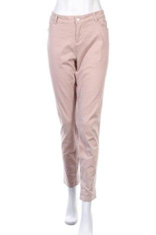 Γυναικείο παντελόνι Katies, Μέγεθος XL, Χρώμα  Μπέζ, 98% βαμβάκι, 2% ελαστάνη, Τιμή 13,64€
