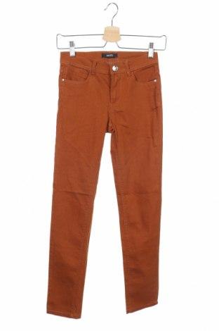 Дамски панталон Mim, Размер XS, Цвят Кафяв, 78% памук, 19% полиестер, 3% еластан, Цена 10,40лв.