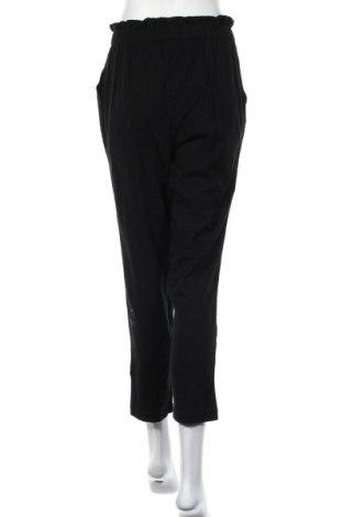 Дамски панталон Noisy May, Размер XS, Цвят Черен, 90% памук, 10% лен, Цена 13,80лв.