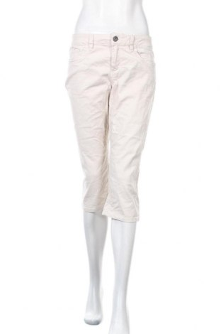 Дамски панталон S.Oliver, Размер M, Цвят Екрю, 98% памук, 2% еластан, Цена 7,35лв.
