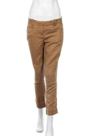 Дамски панталон Stefanel, Размер S, Цвят Кафяв, 62% памук, 38% лен, Цена 29,90лв.