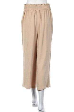 Дамски панталон Vila, Размер M, Цвят Бежов, Полиестер, Цена 25,60лв.