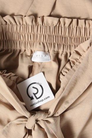 Дамски панталон Vila, Размер S, Цвят Бежов, Цена 25,60лв.