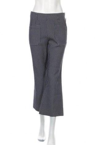 Дамски панталон Zara Trafaluc, Размер L, Цвят Син, 57% памук, 41% полиестер, 2% еластан, Цена 36,75лв.