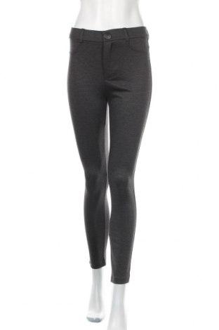 Дамски панталон Zara Trafaluc, Размер M, Цвят Сив, 53% полиестер, 43% вискоза, 4% еластан, Цена 36,75лв.