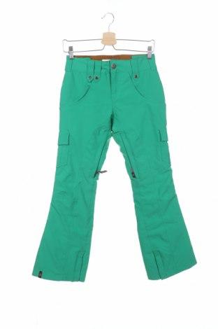 Дамски панталон за зимни спортове Bonfire, Размер XXS, Цвят Зелен, 52% полиестер, 48% полиамид, Цена 179,25лв.