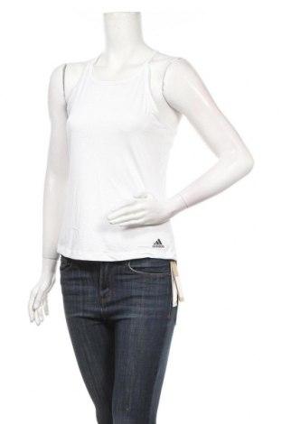 Γυναικείο αμάνικο μπλουζάκι Adidas, Μέγεθος S, Χρώμα Λευκό, 82% πολυεστέρας, 11% ελαστάνη, 7% πολυεστέρας, Τιμή 13,20€