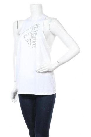 Γυναικείο αμάνικο μπλουζάκι Adidas, Μέγεθος M, Χρώμα Λευκό, 84% πολυεστέρας, 16% ελαστάνη, Τιμή 13,61€