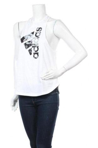 Γυναικείο αμάνικο μπλουζάκι Adidas, Μέγεθος M, Χρώμα Λευκό, 100% βαμβάκι, Τιμή 14,02€