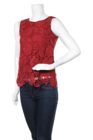 Γυναικείο αμάνικο μπλουζάκι Hallhuber, Μέγεθος S, Χρώμα Κόκκινο, Πολυεστέρας, βισκόζη, Τιμή 14,91€