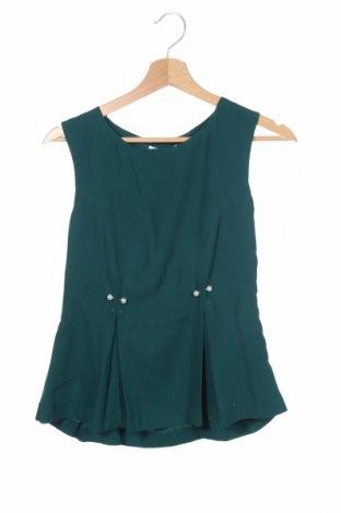 Γυναικείο αμάνικο μπλουζάκι Mint & Berry, Μέγεθος XS, Χρώμα Πράσινο, Πολυεστέρας, Τιμή 6,43€