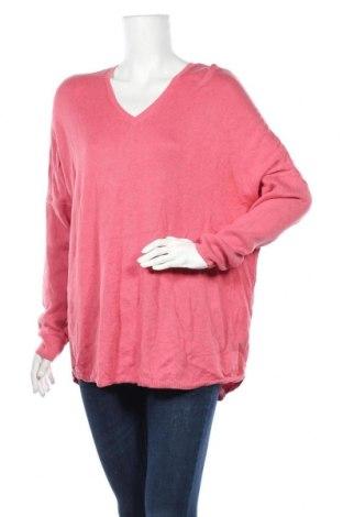 Дамски пуловер, Размер M, Цвят Розов, Памук, вискоза, Цена 12,18лв.