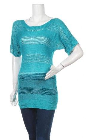 Дамски пуловер, Размер S, Цвят Син, Вискоза, Цена 5,80лв.