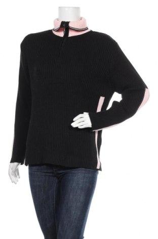 Дамски пуловер, Размер L, Цвят Черен, 50% памук, 50% акрил, Цена 24,10лв.