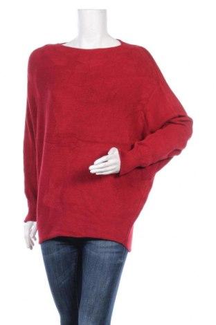 Γυναικείο πουλόβερ, Μέγεθος L, Χρώμα Κόκκινο, 52% βισκόζη, 20% πολυαμίδη, 18% μαλλί, 10% πολυαμίδη, Τιμή 14,81€