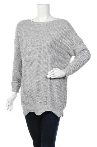 Γυναικείο πουλόβερ, Μέγεθος M, Χρώμα Γκρί, 75%ακρυλικό, 25% μοχαίρ, Τιμή 17,28€