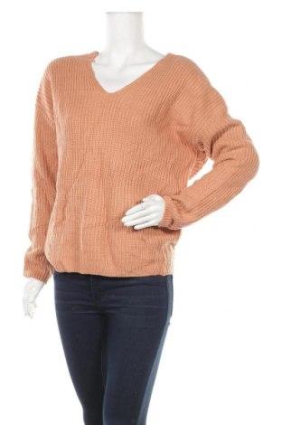 Дамски пуловер Ally, Размер M, Цвят Бежов, Акрил, Цена 14,46лв.