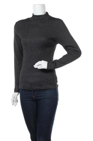 Дамски пуловер C&A, Размер L, Цвят Черен, 60% памук, 40% метални нишки, Цена 19,32лв.