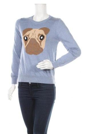 Дамски пуловер Dotti, Размер S, Цвят Син, 45% полиестер, 30% акрил, 20% полиамид, 5% вълна, Цена 21,16лв.
