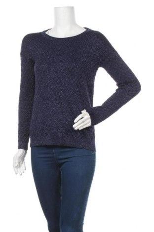 Дамски пуловер Dotti, Размер XS, Цвят Син, 75% вискоза, 16% полиамид, 9% метални нишки, Цена 18,27лв.