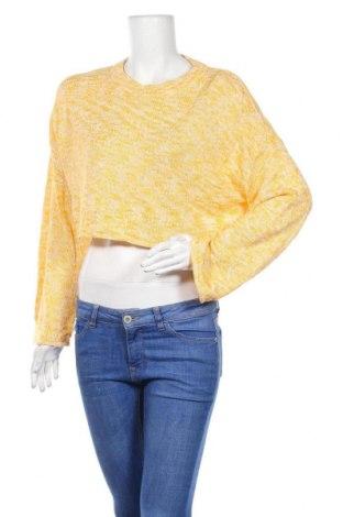 Дамски пуловер H&M Divided, Размер M, Цвят Жълт, 56% памук, 44% акрил, Цена 7,98лв.