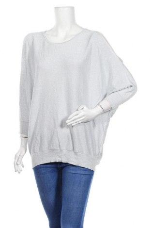Γυναικείο πουλόβερ Just Jeans, Μέγεθος L, Χρώμα Γκρί, 46% βισκόζη, 31% βαμβάκι, 23% μεταλλικά νήματα, Τιμή 16,05€
