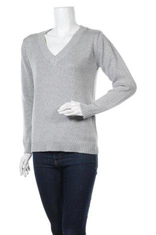 Дамски пуловер Laura Scott, Размер S, Цвят Сив, 47% акрил, 47% памук, 6% метални нишки, Цена 28,35лв.