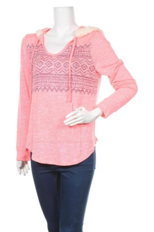 Дамски пуловер No Boundaries, Размер XL, Цвят Розов, 58% полиестер, 39% вискоза, 3% еластан, Цена 18,74лв.