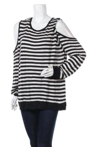Дамски пуловер Now, Размер 3XL, Цвят Черен, Вискоза, акрил, Цена 23,10лв.