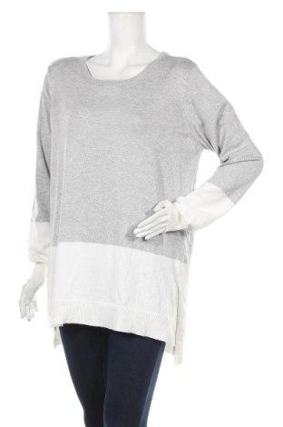 Дамски пуловер Now, Размер L, Цвят Сив, Вискоза, полиестер, Цена 17,64лв.