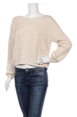 Γυναικείο πουλόβερ ONLY, Μέγεθος M, Χρώμα  Μπέζ, 50%ακρυλικό, 50% βαμβάκι, Τιμή 23,97€