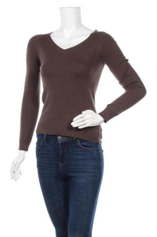 Γυναικείο πουλόβερ Pimkie, Μέγεθος XS, Χρώμα Καφέ, 80% βαμβάκι, 18% πολυαμίδη, 2% ελαστάνη, Τιμή 15,59€