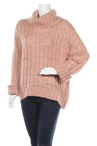 Дамски пуловер Reserved, Размер L, Цвят Розов, 60% акрил, 18% полиестер, 15% вълна, 7% мохер, Цена 19,50лв.