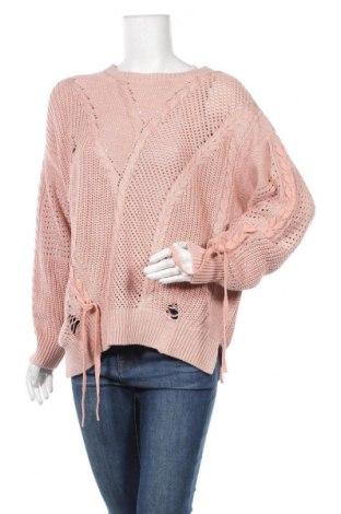 Дамски пуловер River Island, Размер M, Цвят Розов, 56% акрил, 44% памук, Цена 29,40лв.