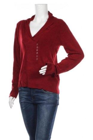 Дамски пуловер Rockmans, Размер M, Цвят Червен, 80% акрил, 17% полиамид, 3% еластан, Цена 35,49лв.