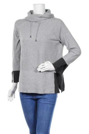 Дамски пуловер Rockmans, Размер M, Цвят Сив, Памук, полиамид, вълна, Цена 15,70лв.