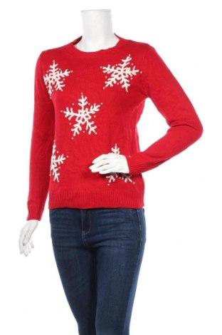 Дамски пуловер Select, Размер XS, Цвят Червен, Акрил, Цена 19,53лв.