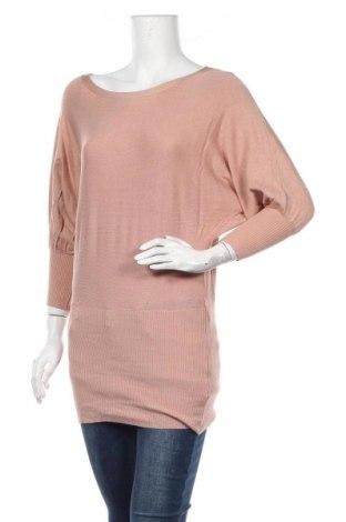 Дамски пуловер Temt, Размер M, Цвят Розов, Вискоза, памук, еластан, Цена 12,18лв.