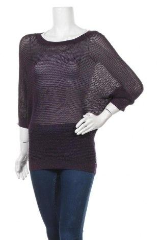 Дамски пуловер Xcepsion, Размер L, Цвят Лилав, 90% вискоза, 10% метални нишки, Цена 6,28лв.