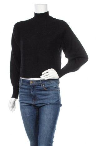 Дамски пуловер Zara, Размер S, Цвят Черен, 47% вискоза, 27% полиамид, 26% полиестер, Цена 42,53лв.