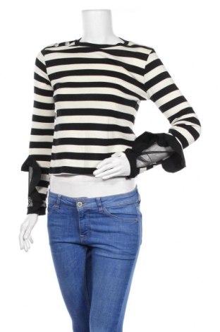 Дамски пуловер Zara Trafaluc, Размер M, Цвят Бял, Памук, Цена 25,50лв.