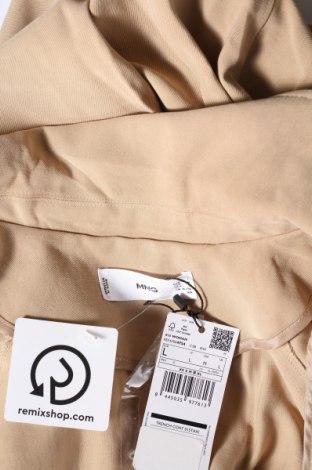 Дамски шлифер Mango, Размер L, Цвят Бежов, 93% вискоза, 7% полиестер, Цена 41,72лв.