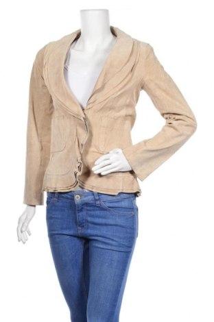 Γυναικείο δερμάτινο σακάκι Morgan, Μέγεθος M, Χρώμα  Μπέζ, Φυσικό σουέτ, Τιμή 15,52€