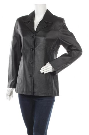 Дамско кожено яке, Размер M, Цвят Черен, Естествена кожа, Цена 30,87лв.