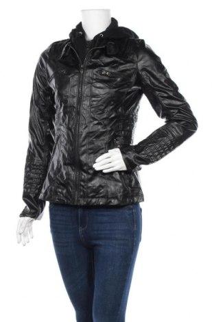 Дамско кожено яке, Размер S, Цвят Черен, Еко кожа, Цена 19,95лв.