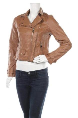 Дамско кожено яке Ally, Размер M, Цвят Кафяв, Еко кожа, Цена 25,94лв.