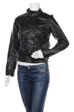 Дамско кожено яке Amisu, Размер XS, Цвят Черен, Еко кожа, Цена 14,70лв.